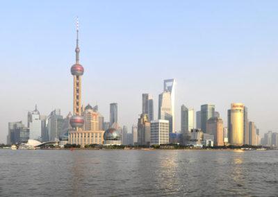 Destination Shanghai - Pudong, LE skyline de Shanghai