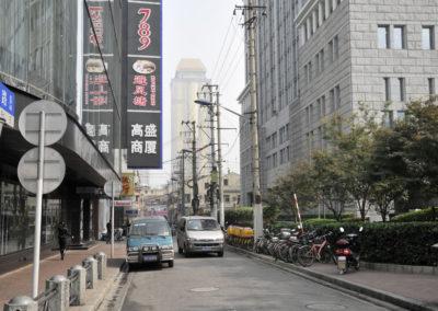 Dans les rues du centre de Shanghai