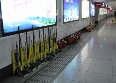 Nettoyage du métro de Shanghai