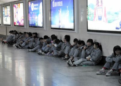 Personnel de nettoyage du métro de Shanghai