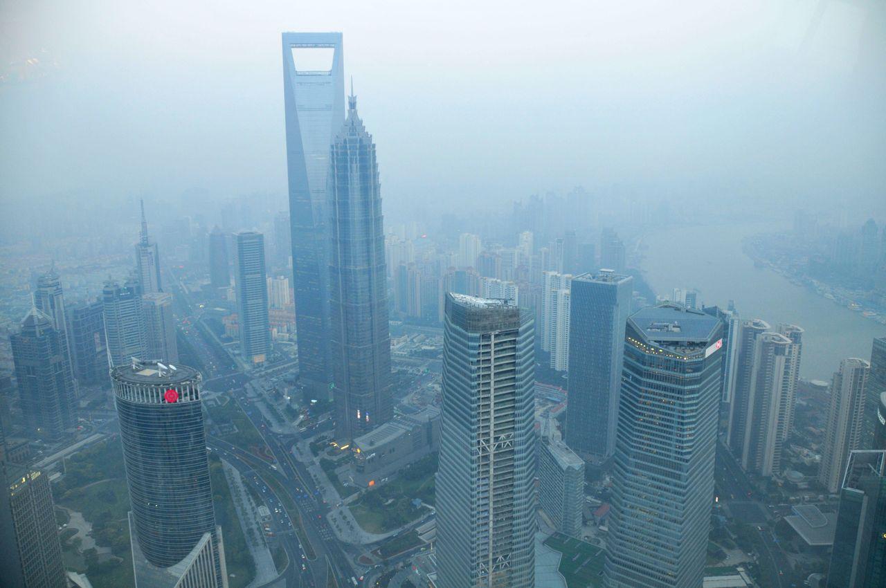 Shanghai World Financial Center de loin