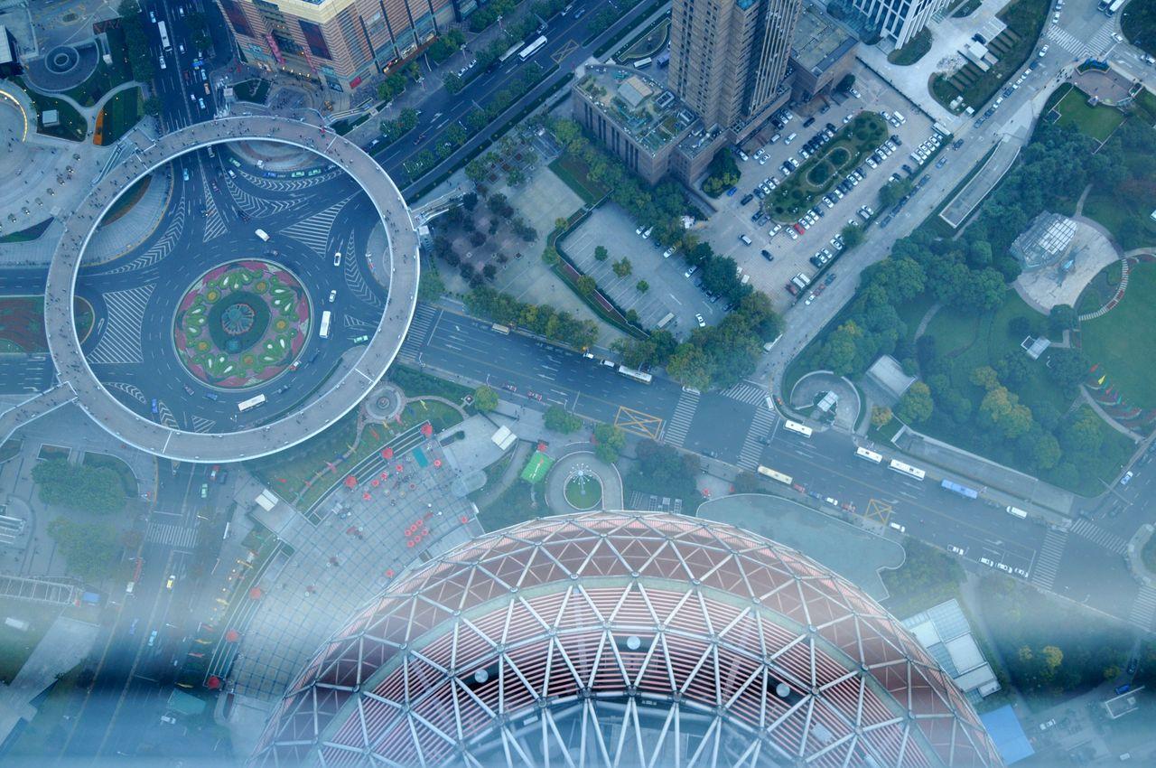 En bas de la Perle de l'Orient Tour TV Shanghai