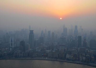 Puxi (Shanghai) dans la brume