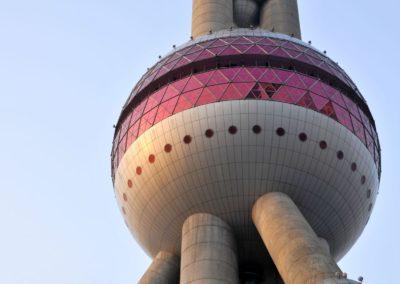 La sphère basse de la tour TV Perle de l'Orient de Shanghai