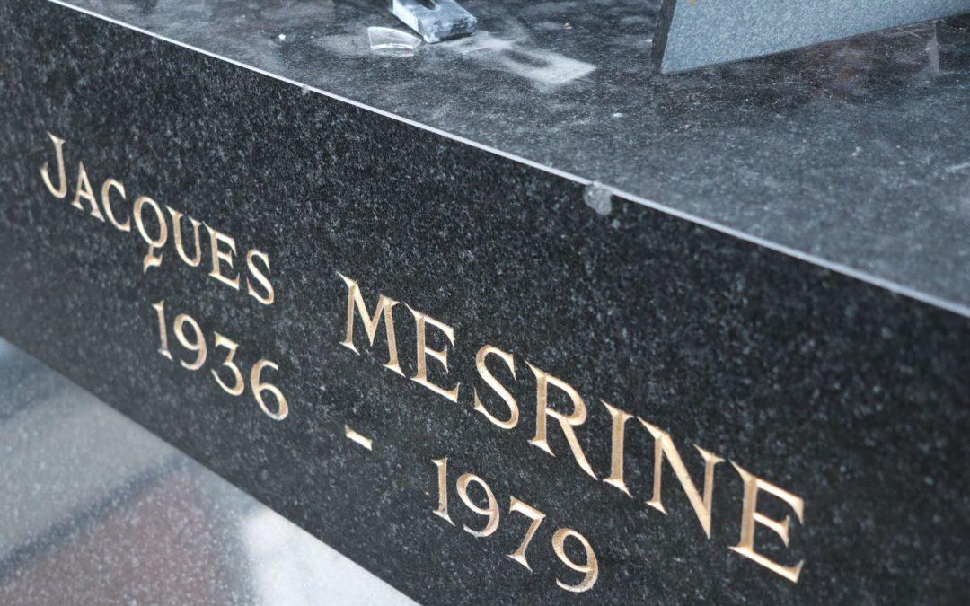 La tombe de Jacques Mesrine (1936-1979) au cimetière de Clichy