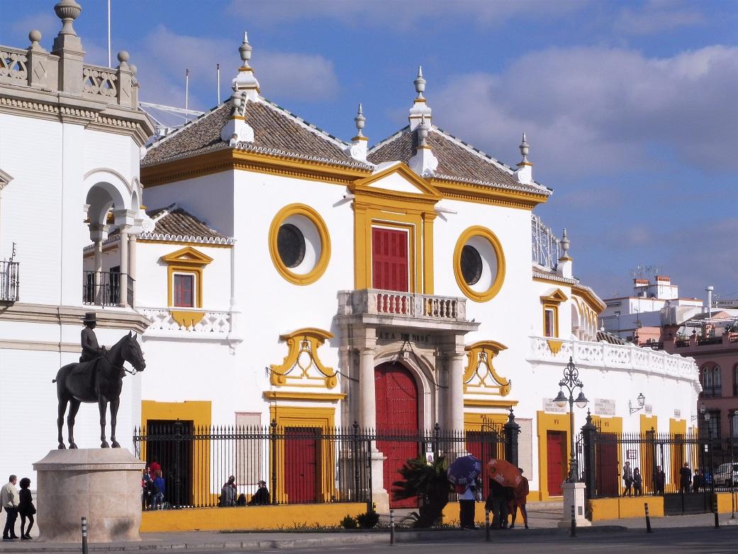 Les arènes de Séville et les rives du Guadalquivir